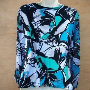 Alfani Tops - Bright Silky Sheer & Sleek Sz L Alfani